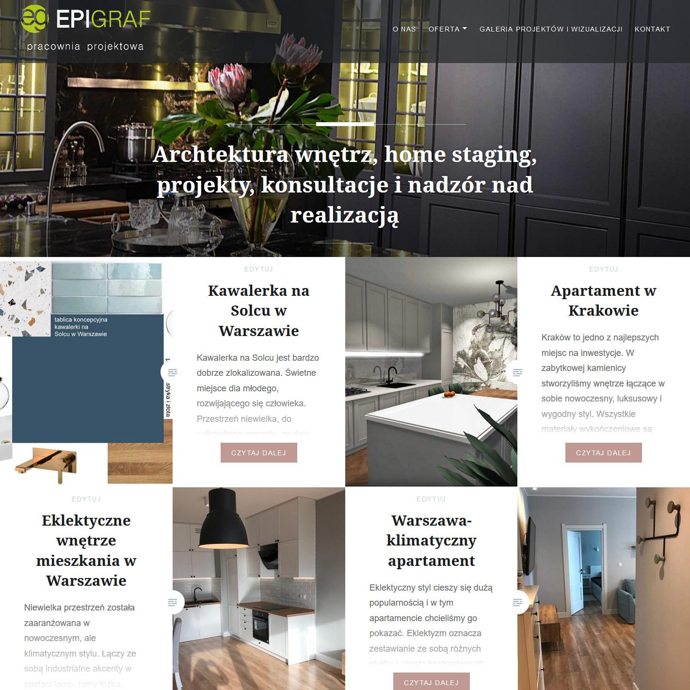 Epigraf - Projektowanie i aranżacja wnętrz – Archtektura wnętrz