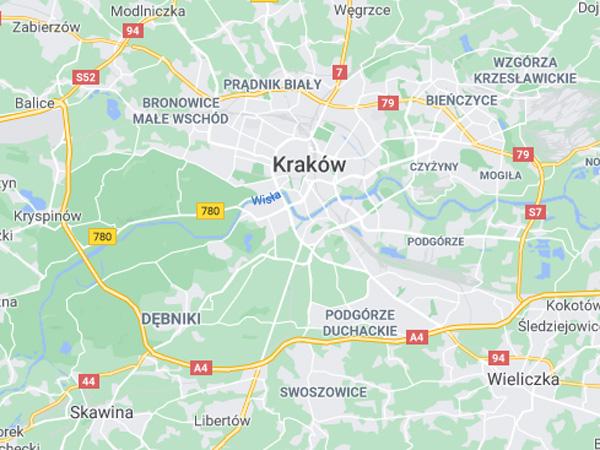 Mapa Google Kraków