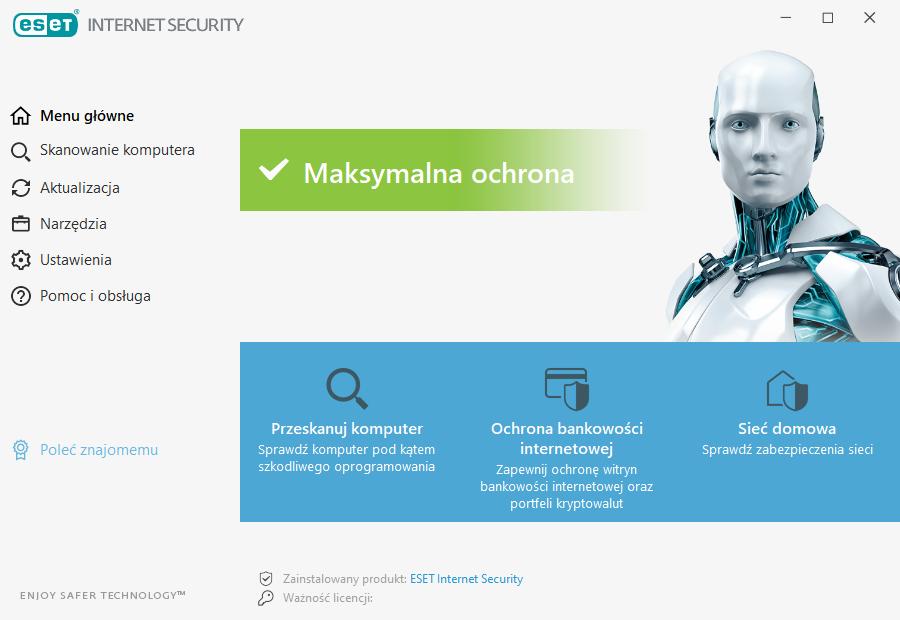 ESET Internet Security - wygląd programu
