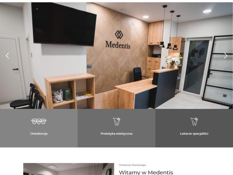 Medentis Strona internetowa