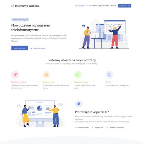 Strona Internetowa Informatyk Wieliczka